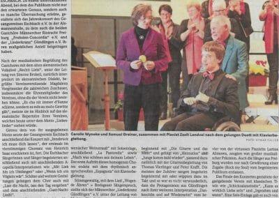 Bericht Badische Zeitung 02.11.2017
